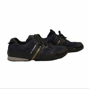 Y-3 Mens Navy Suede Athletic Sneakers